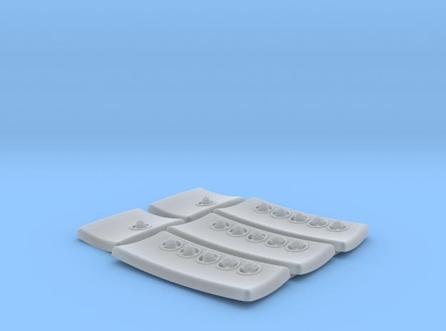 DeAgo Falcon Corridor - Port Pads with Sconce Deta in Smoothest Fine Detail Plastic
