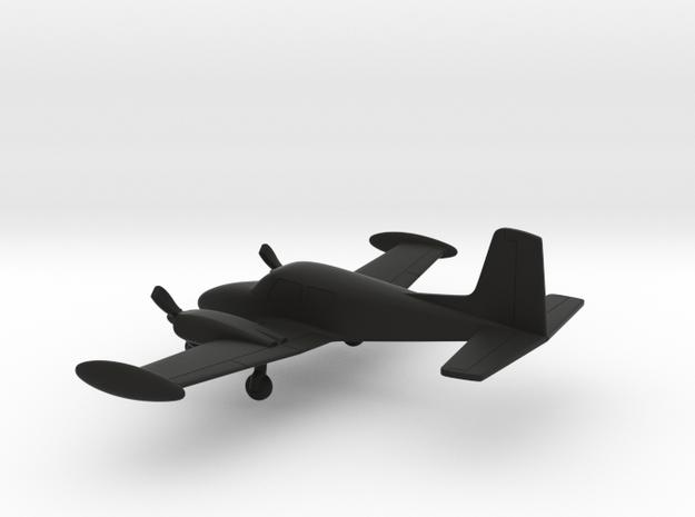 Cessna 310A in Black Natural Versatile Plastic: 1:144