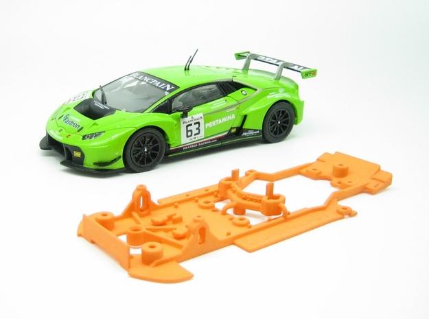 PSCA00403 Chassis Set for Carrera Lmborghini Hraca in Orange Processed Versatile Plastic