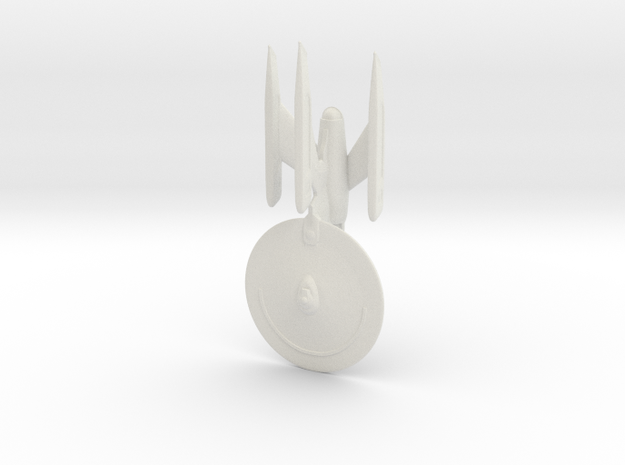 Federation Dreadnought-class Refit 1:3800 in White Natural Versatile Plastic