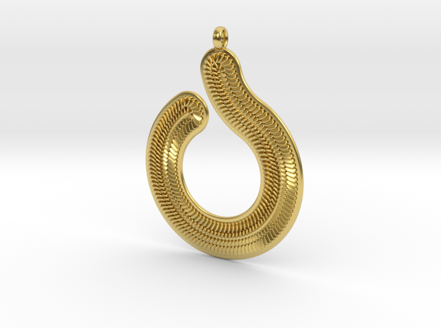 Pendant Circles & Scales 1mm in Polished Brass