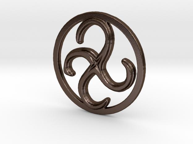 Clockwise Metamorphosis in Polished Bronze Steel