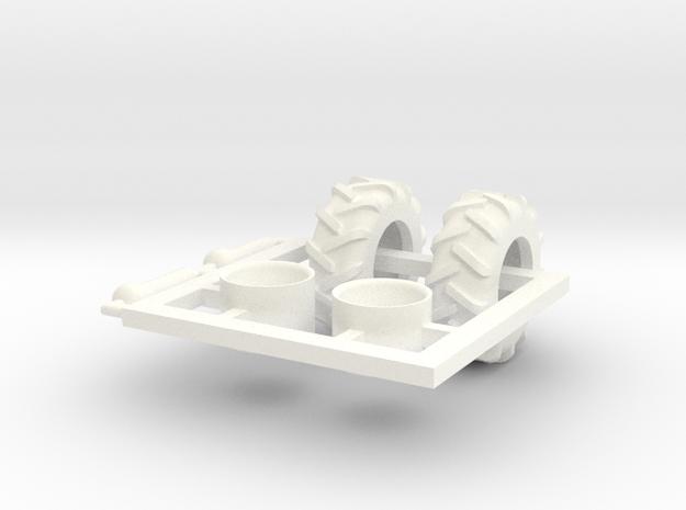 1/64 Tread Tires for 1720 Air Cart in White Processed Versatile Plastic