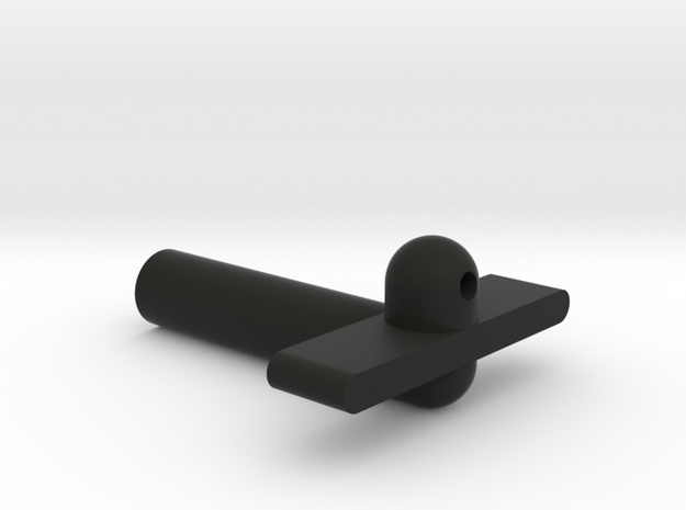 Kyosho Maxxum FF Rear Bodymount in Black Natural Versatile Plastic
