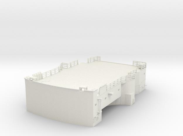 1/144 Bismarck lower bridge deck #1 in White Natural Versatile Plastic
