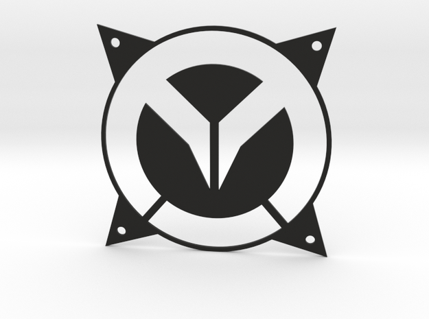 Overwatch 120mm fan grille in Black Natural Versatile Plastic