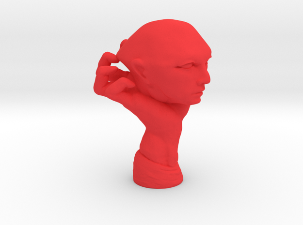Personalised Mighty Hand Caricature (001) in Red Processed Versatile Plastic