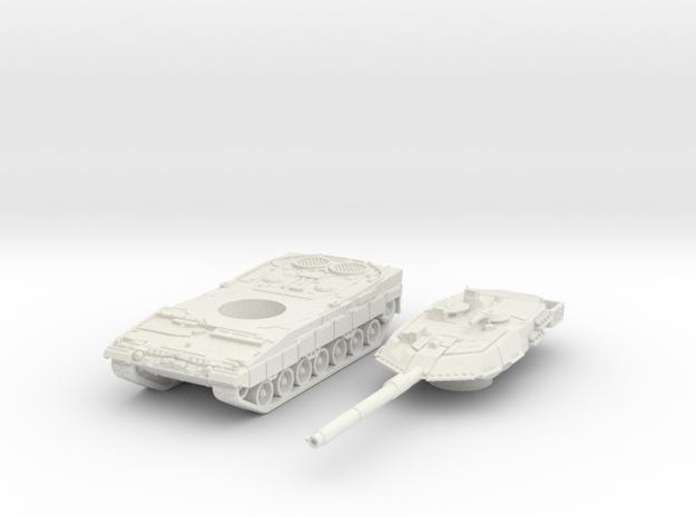 leopard 2A6 scale 1/87 in White Natural Versatile Plastic