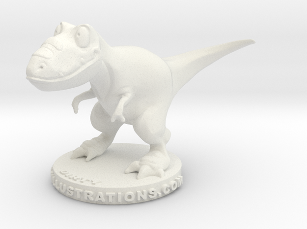 Denny & Co. Dirty the Trex in White Natural Versatile Plastic