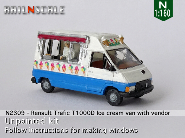 Renault Trafic T1000D Ice cream van with vendor (N in Smooth Fine Detail Plastic