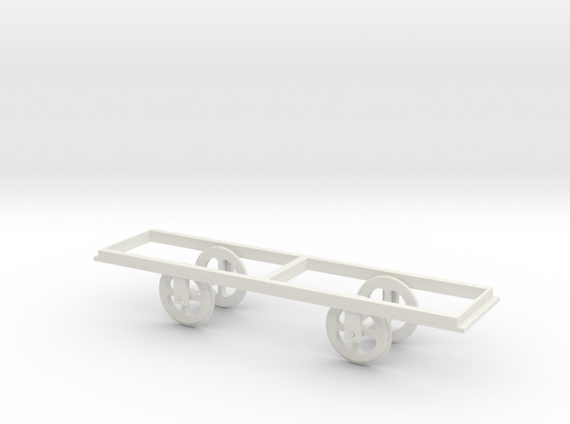 Giant's Causeway O scale tram No 2 wheel assembly  in White Natural Versatile Plastic: 1:43.5