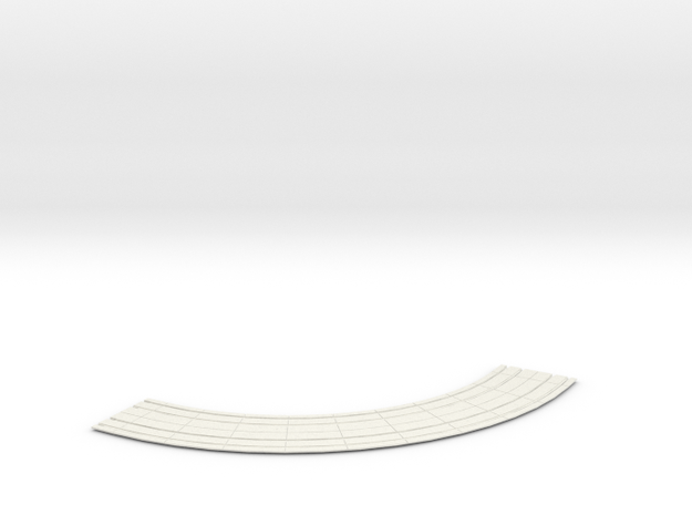 HO dbl street track curves 10 rad  in White Natural Versatile Plastic