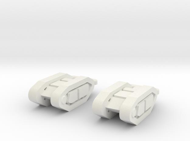 goliath (2 pieces) scale 1/100 in White Natural Versatile Plastic