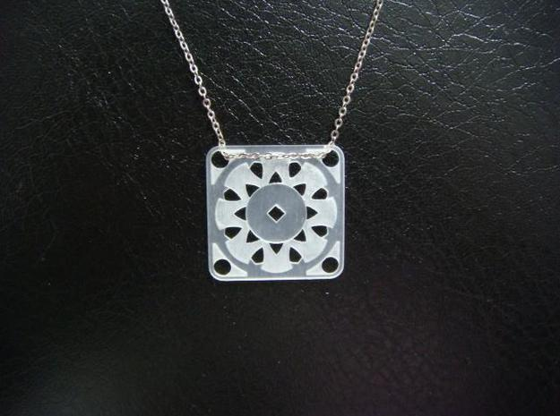 Square Pendant or Charm - Suspended Coin 3d printed FUD - Chain not included
