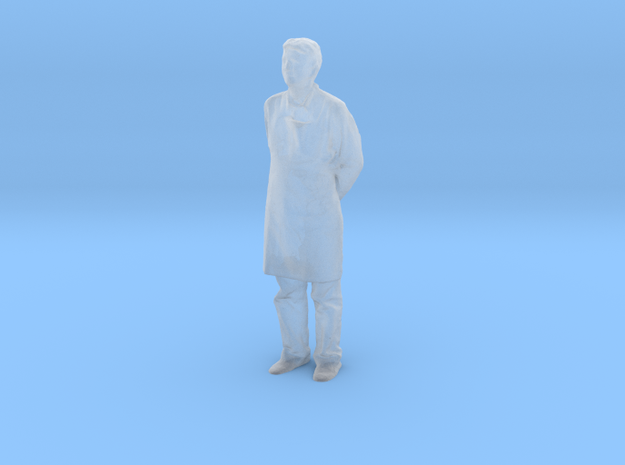 S Scale man in an apron in Smooth Fine Detail Plastic