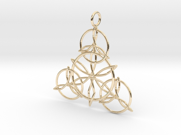 Celtic Knots Pendant in 14K Yellow Gold