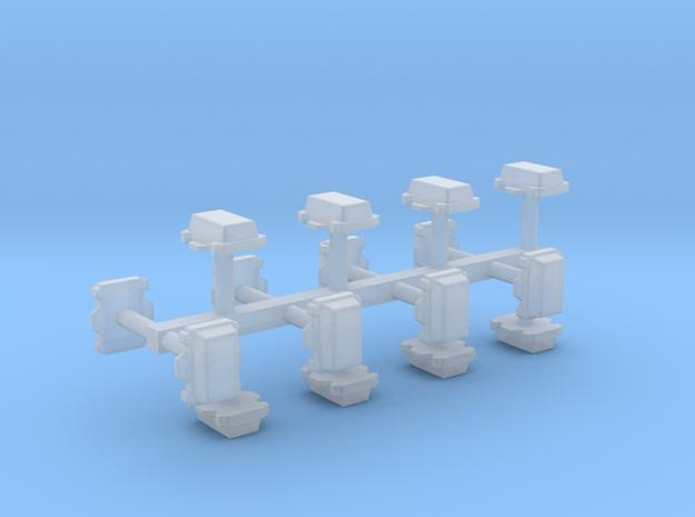 Kabelverteiler groß 16erSet 1:120 TT in Smooth Fine Detail Plastic