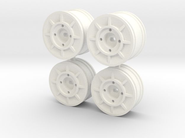 NRC Y24 Wheels- Various colours available  in White Processed Versatile Plastic