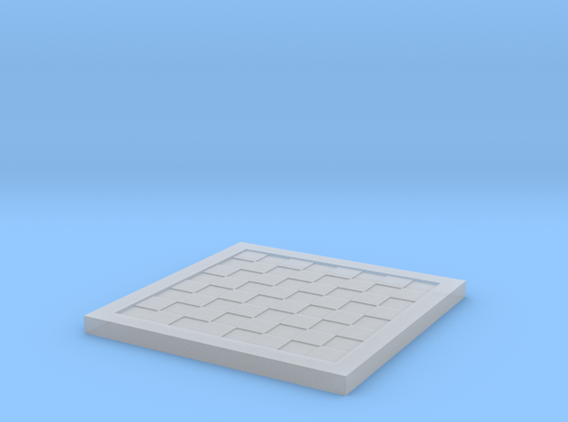 1/18 Scale Chess/Checkers Board (Bare) in Smooth Fine Detail Plastic