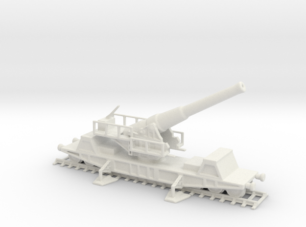 British  bl 9.2 mk 13 1/100 railway artillery ww1  in White Natural Versatile Plastic