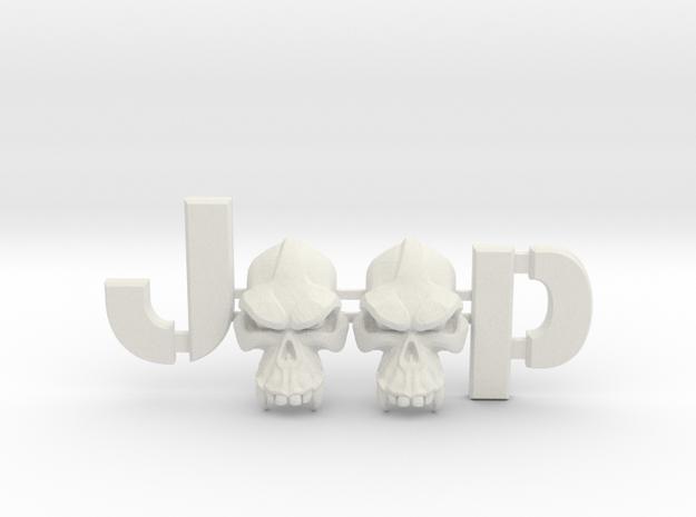 #CuzitsCustom Evil Monkey Skulls (SM-Willys) in White Natural Versatile Plastic