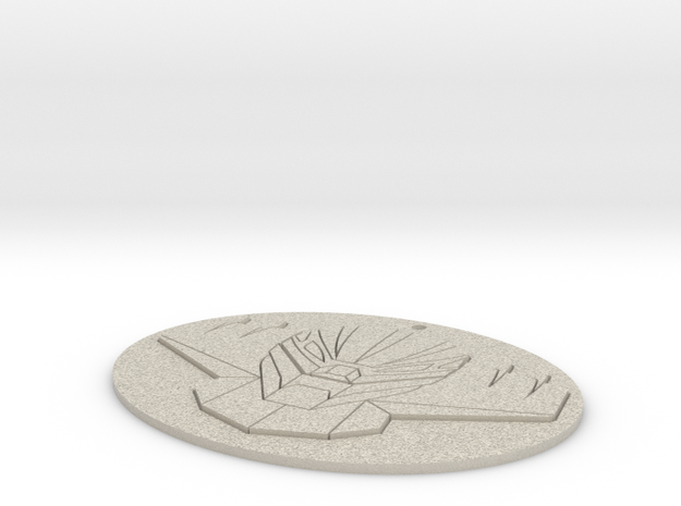 Jeeg Medallion in Natural Sandstone