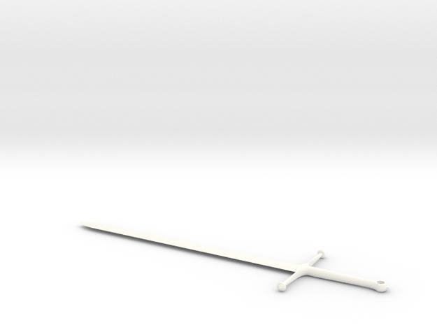 Ice - Ned Stark's Sword -  Game Of Thrones in White Processed Versatile Plastic