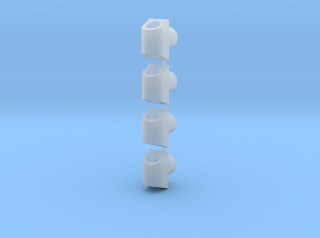 Wire Clips for Korbanth Crossguard 2.0 in Smooth Fine Detail Plastic