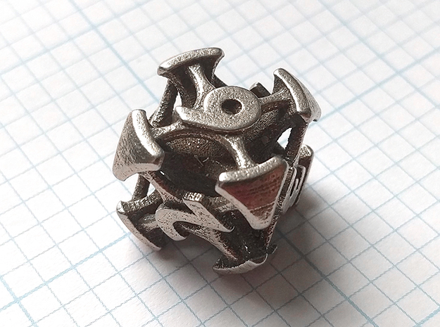 Chord Die6 in Polished Bronzed-Silver Steel