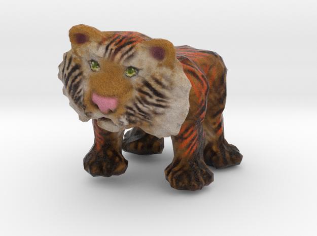 Tiger Figurine in Natural Full Color Sandstone