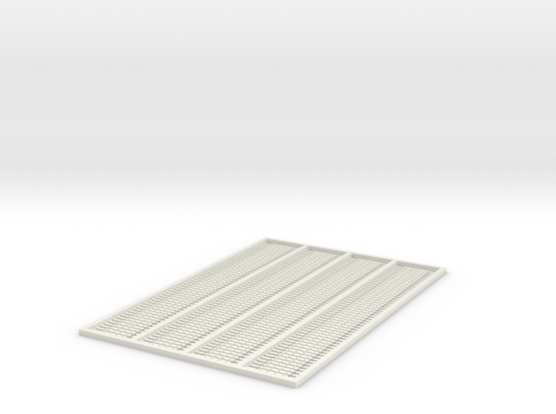G-332 4 Bolt Fishplates x 200 in White Natural Versatile Plastic