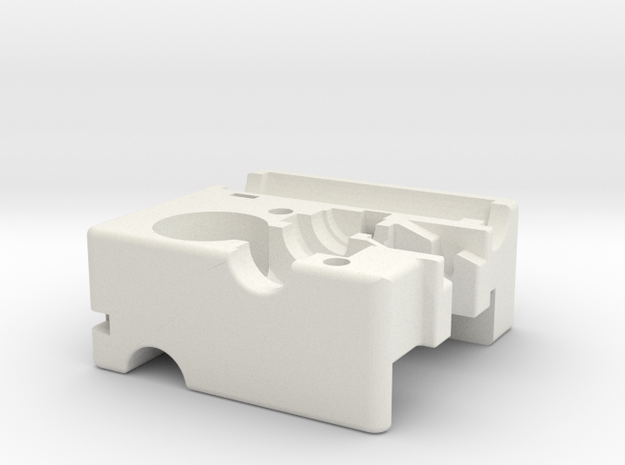 Ultimaker Adaptor Main Block in White Natural Versatile Plastic