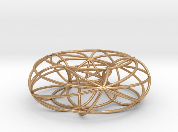 pendant toroidal geodesics in Natural Bronze