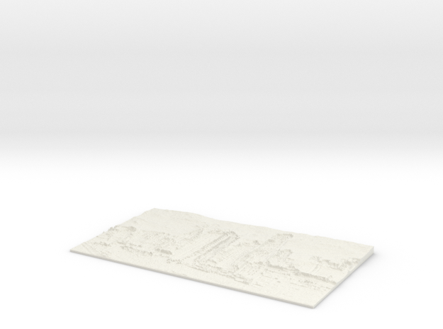 Apocalyptic City Flat Lithophane in White Natural Versatile Plastic