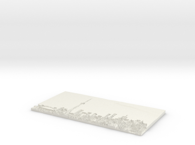 The City Flat Lithophane in White Natural Versatile Plastic