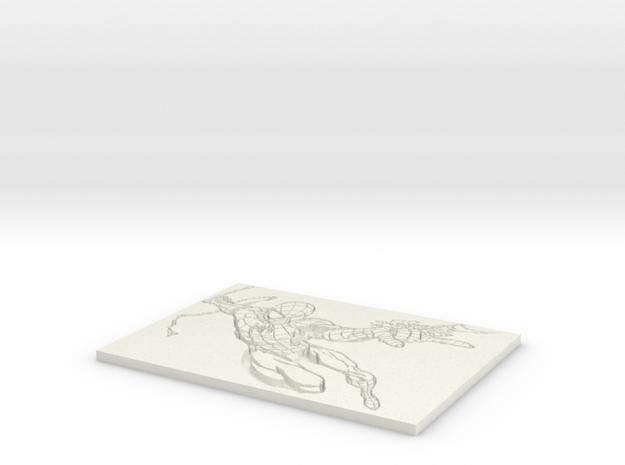 Spiderman Flat Lithophane in White Natural Versatile Plastic