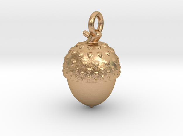 Acorn necklace in Natural Bronze