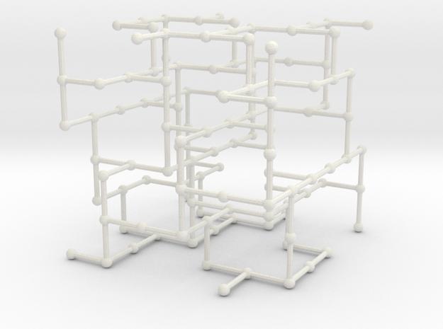 Haugland's grid subgraph no. 2 in White Natural Versatile Plastic