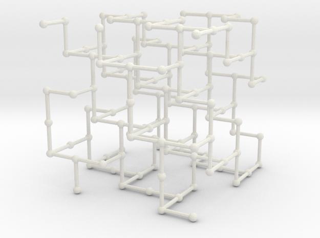 Haugland's grid subgraph no. 3 in White Natural Versatile Plastic