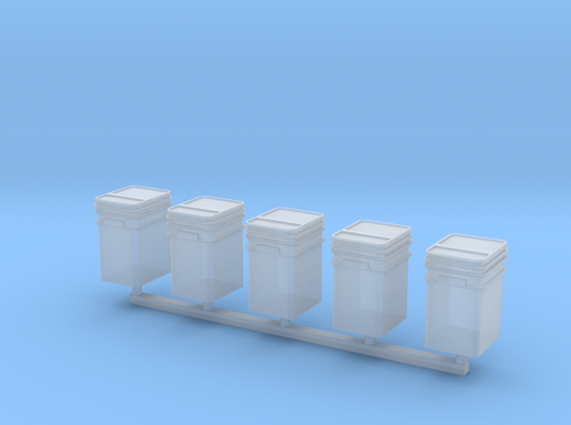 1/64 or S Scale Talc Buckets-5 in Smooth Fine Detail Plastic