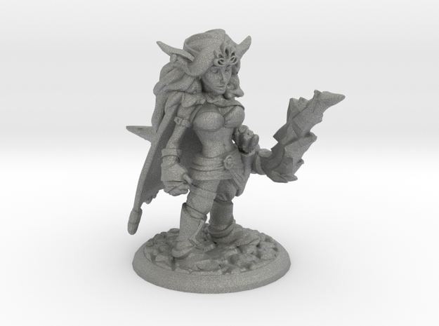 MELODY THE ELVEN ARCHER  in Gray Professional Plastic