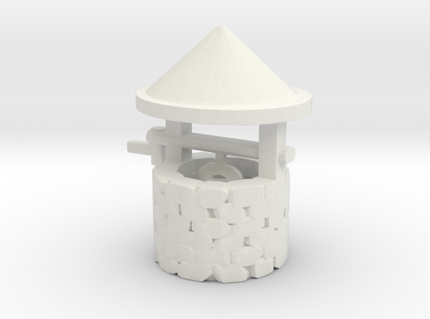 S Scale Wishing Well in White Natural Versatile Plastic