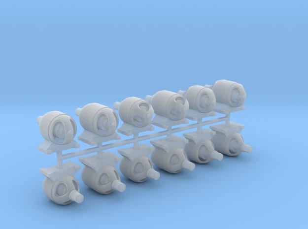 Generatormotor (90%_V5bisV10) 12erSet - TT 1:120 in Smooth Fine Detail Plastic
