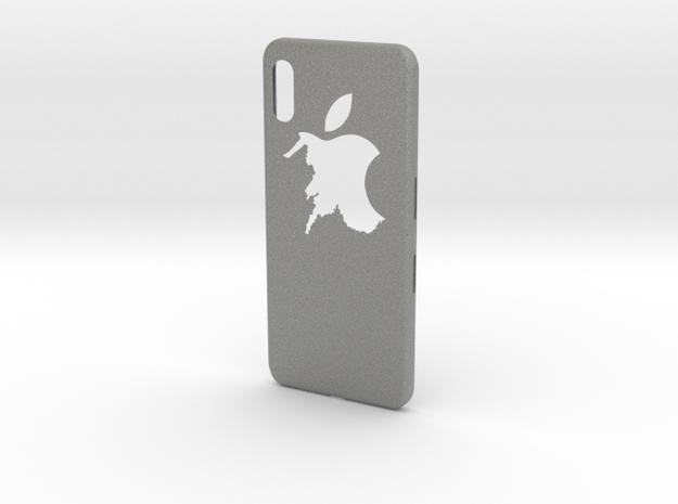 cases iphone x logo apple in Gray PA12: Medium
