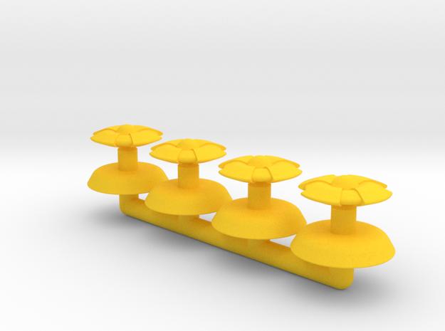 Beta Generic Small Warship Squadron in Yellow Processed Versatile Plastic
