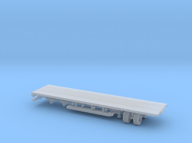 1/87 Scale Custom Skoda Flatbed Trailer in Smooth Fine Detail Plastic