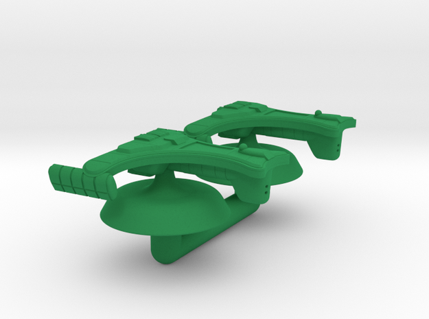 Remoran D'Tester Battlecruiser -1:20000 in Green Processed Versatile Plastic