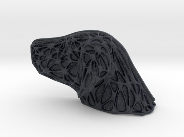 Dog Face + Voronoi Mask in Black PA12