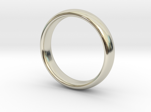 Simple ring in 14k White Gold