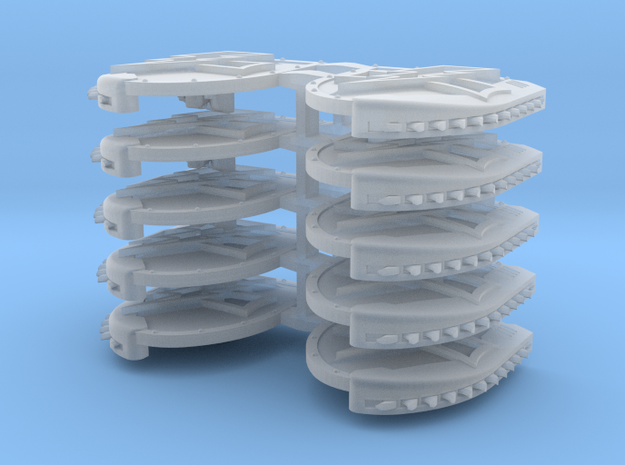 Mixed Chainshield (Bolt and Level design) in Smooth Fine Detail Plastic: Large